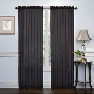 Regal Home Collection Crystal Black Sheer Curtains